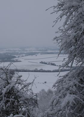 The South Downs under snow in January